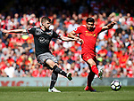 Jack Stephens of Southampton in action with Emre Can of Liverpool during the English Premier League match at Anfield Stadium, Liverpool. Picture date: May 7th 2017. Pic credit should read: Simon Bellis/Sportimage