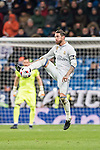 Sergio Ramos of Real Madrid in action during their Copa del Rey 2016-17 Quarter-final match between Real Madrid and Celta de Vigo at the Santiago Bernabéu Stadium on 18 January 2017 in Madrid, Spain. Photo by Diego Gonzalez Souto / Power Sport Images