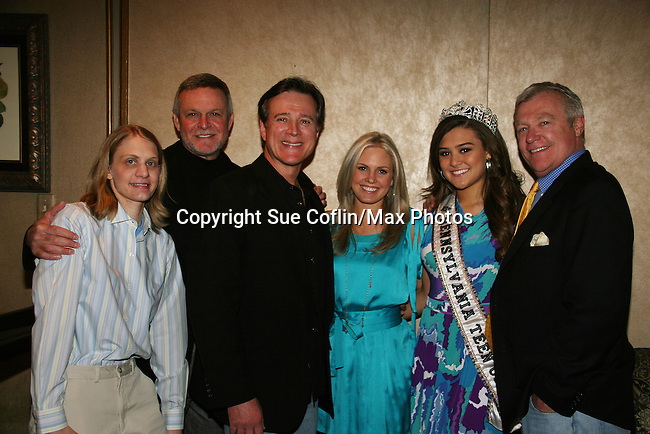 Ron Raines - Frank Dicopoulos - Terri Colombino - Jerry verDorn with April  & Elena Quatra (Miss Pennsylvania Teen USA) attend the Shower with the Stars which benefits the Young Women's Breast Cancer Foundation and Cancer Caring Center of Pittsburgh on March 26, 2010 at the LeMont Restaurant, Pittsburgh, PA. (Photo by Sue Coflin/Max Photos)