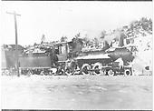RGS 4-6-0 #25 (1st) pulling a passenger train near Rico.<br /> RGS  Rico, CO  pre 1909