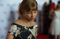 "ST. PAUL, MN JULY 16: Singer Grace VanderWaal talks to reporters on the red carpet at the Starkey Hearing Foundation ""So The World May Hear Awards Gala"" on July 16, 2017 in St. Paul, Minnesota. Credit: Tony Nelson/Mediapunch"
