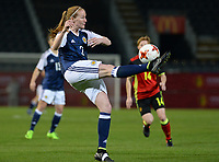20170411 - LEUVEN ,  BELGIUM : Scottish Vaila Barsley pictured during the friendly female soccer game between the Belgian Red Flames and Scotland , a friendly game in the preparation for the European Championship in The Netherlands 2017  , Tuesday 11 th April 2017 at Stadion Den Dreef  in Leuven , Belgium. PHOTO SPORTPIX.BE | DAVID CATRY