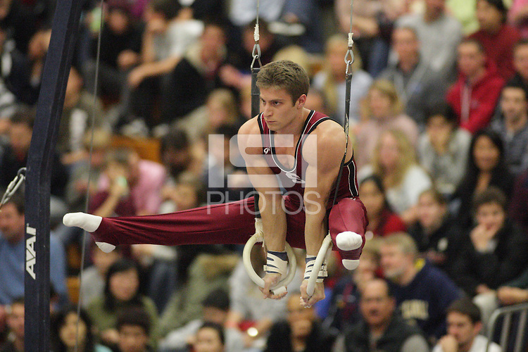 STANFORD, CA - JANUARY 24:  Nicholas Noone of the Stanford Cardinal during the Stanford Open on January 24, 2009 at Burnham Pavilion in Stanford, California.