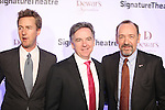 Edward Norton and Kevin Spacey with Signature Founding Artistic Director, James Houghton attending The Signature Theatre Center Opening Gala Celebration honoring Edward Norton in New York City on 1/30/2012..attending The Signature Theatre Center Opening Gala Celebration honoring Edward Norton in New York City on 1/30/2012..