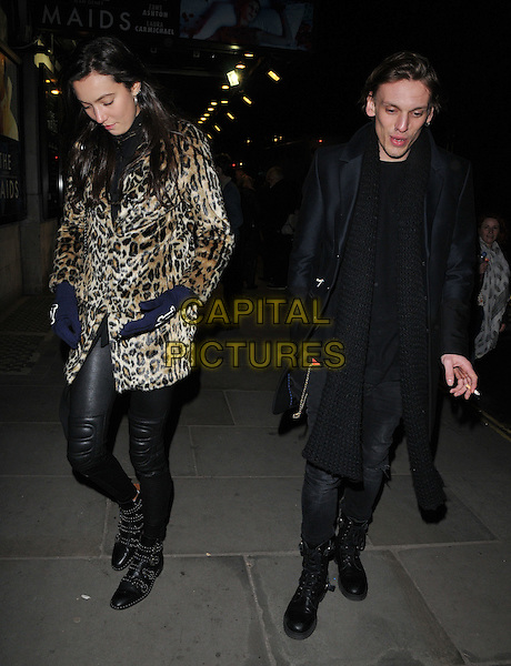 Matilda Lowther &amp; Jamie Campbell-Bower attend the &quot;The Maids&quot; VIP gala night, Trafalgar Studios, Whitehall, London, UK, on Monday 29 February 2016.<br /> CAP/CAN<br /> &copy;Can Nguyen/Capital Pictures