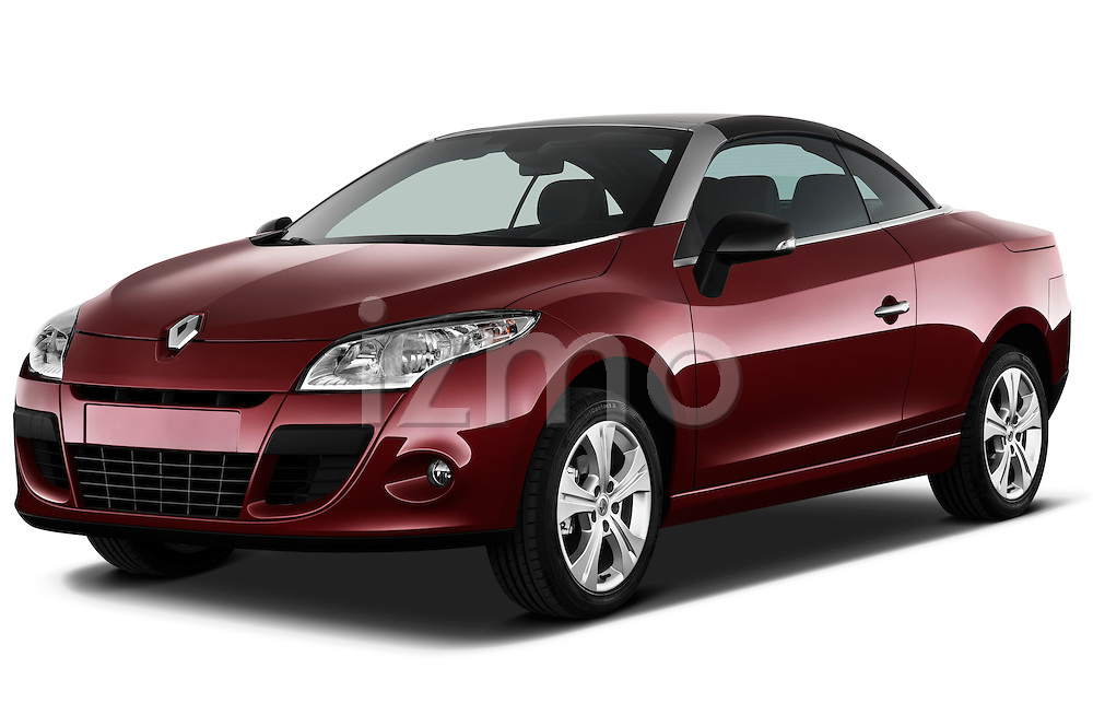 Front three quarter view of a 2010 Renault Megane Coupe Convertible.