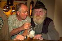 Berchtesgaden, Bavaria, Germany, May 2006. Porklegs and beer in the Goldener Baer, a Bavarian Tradition. The beauty of berchtesgadener Land lies in the spectacular mountain landscapes, combined with age old traditions and a welcoming culture. Photo by Frits Meyst/Adventure4ever.com