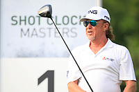 Miguel Angel Jimenez (ESP) during previews for the Shot Clock Masters, Diamond Country Club, Atzenbrugg, Vienna, Austria. 06/06/2018<br /> Picture: Golffile | Phil Inglis<br /> <br /> All photo usage must carry mandatory copyright credit (&copy; Golffile | Phil Inglis)