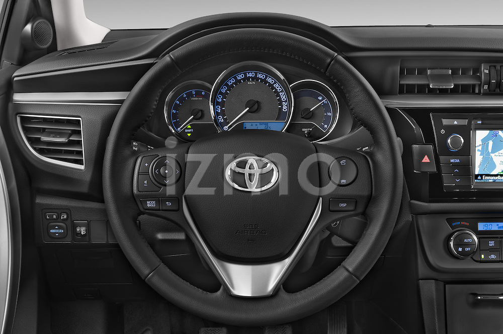 Car pictures of steering wheel view of a 2014 Toyota Corolla Comfort 4 Door Sedan 2WD Steering Wheel