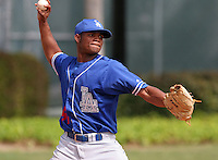 Los Angeles Dodgers minor leaguer Miguel Ramirez during Spring Training at Dodgertown on March 23, 2007 in Vero Beach, Florida.  (Mike Janes/Four Seam Images)