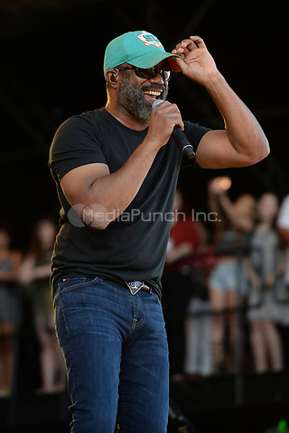 FORT LAUDERDALE FL - APRIL 07: Darius Rucker  performs during the Tortuga Music Festival held at Fort Lauderdale Beach on April 07, 2017 in Fort Lauderdale, Florida.  Credit: mpi04/MediaPunch