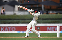 30th November 2019, Hamilton, New Zealand;  Henry Nicholls hooks and is caught on the boundary by Broad during play on day 2 of 2nd test match between New Zealand and England,  International Cricket at Seddon Park, Hamilton, New Zealand.  - Editorial Use