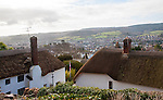 Morning view over houses in Minehead, Somerset, England