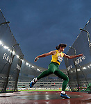 SHANGHAI, CHINA - MAY 19:  Zinaida Sendriute of Lithuania competes to win the Women DiscusThrow during the Samsung Diamond League on May 19, 2012 at the Shanghai Stadium in Shanghai, China.  Photo by Victor Fraile / The Power of Sport Images