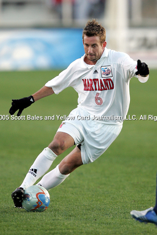 The University of Maryland defeated Southern Methodist University 4-1 in the NCAA Semifinal at SAS Stadium in Cary, North Carolina, Friday, December 9, 2005.
