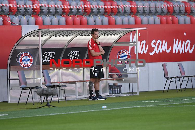 Co-Trainer Miroslav Klose (FC Bayern Muenchen) vor dem Spiel<br />Fussball  31.07.2020<br />Audi Football Summit 2020<br />FC Bayern Muenchen - Olympique Marseille<br /><br />FOTO: Markus Ulmer/Pressefoto Ulmer/Pool via nordphoto / Bratic<br /><br />Nur für journalistische Zwecke! Only for editorial use! <br />No commercial usage!