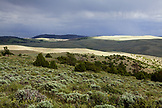 USA, Wyoming, Encampment, beautiful wide open rolling Wyoming landscape