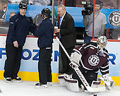 Bob Bernard, ?, Alex Sakellaropoulos (Union - 1) - The Union College Dutchmen defeated the University of Minnesota Golden Gophers 7-4 to win the 2014 NCAA D1 men's national championship on Saturday, April 12, 2014, at the Wells Fargo Center in Philadelphia, Pennsylvania.