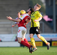 Fleetwood Town's Lewis Coyle vies for possession with Burton Albion's Jamie Allen<br /> <br /> Photographer Chris Vaughan/CameraSport<br /> <br /> The EFL Sky Bet League One - Saturday 23rd February 2019 - Burton Albion v Fleetwood Town - Pirelli Stadium - Burton upon Trent<br /> <br /> World Copyright © 2019 CameraSport. All rights reserved. 43 Linden Ave. Countesthorpe. Leicester. England. LE8 5PG - Tel: +44 (0) 116 277 4147 - admin@camerasport.com - www.camerasport.com