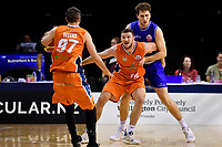 Sharks' Tom Vodanovich in action during the  NBL - Cigna Saints v Southland Sharks at TSB Bank Arena, Wellington, New Zealand on Thursday 25 April 2019. <br /> Photo by Masanori Udagawa. <br /> www.photowellington.photoshelter.com