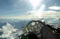 Segelflug, ASH 26 E Cockpit, Seealpen, Suedfrankreich, Welle, Blick auf Instrumente
