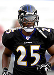 31 December 2006: Baltimore Ravens cornerback Evan Oglesby warms up prior to a game against the Buffalo Bills at M&T Bank Stadium in Baltimore, Maryland. The Ravens defeated the Bills 19-7. Mandatory Photo Credit: Ed Wolfstein Photo.<br />