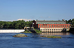 Dam across the Penobscot River, Milford, Maine, USA