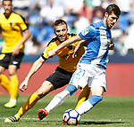 CD Leganes' Ruben Perez (r) and Malaga CF's Ignacio Camacho during La Liga match. February 25,2017. (ALTERPHOTOS/Acero)
