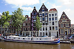 AMSTERDAM - The NETHERLANDS - 09 September 2012 -- River-boat at the Herenkracht. -- PHOTO: Juha ROININEN /  EUP-IMAGES