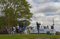 Jason Dufner (USA watches his tee shot on 3 during day 2 of the World Golf Championships, Dell Match Play, Austin Country Club, Austin, Texas. 3/22/2018.<br /> Picture: Golffile | Ken Murray<br /> <br /> <br /> All photo usage must carry mandatory copyright credit (&copy; Golffile | Ken Murray)