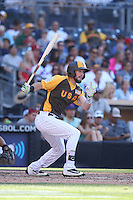 David Dahl of the USA Team bats against the World Team during The Futures Game at Petco Park on July 10, 2016 in San Diego, California. World Team defeated USA Team, 11-3. (Larry Goren/Four Seam Images)