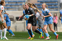 Bridgeview, IL - Saturday May 27, 2017: Alyssa Naeher during a regular season National Women's Soccer League (NWSL) match between the Chicago Red Stars and the North Carolina Courage at Toyota Park. The Red Stars won 3-2.