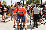 Ivan Garcia Cortina (ESP) Bahrain-Merida at sign on before the start of Stage 8 of the La Vuelta 2018, running 195.1km from Linares to Almaden, Spain. 1st September 2018.<br /> Picture: Unipublic/Photogomezsport | Cyclefile<br /> <br /> <br /> All photos usage must carry mandatory copyright credit (&copy; Cyclefile | Unipublic/Photogomezsport)