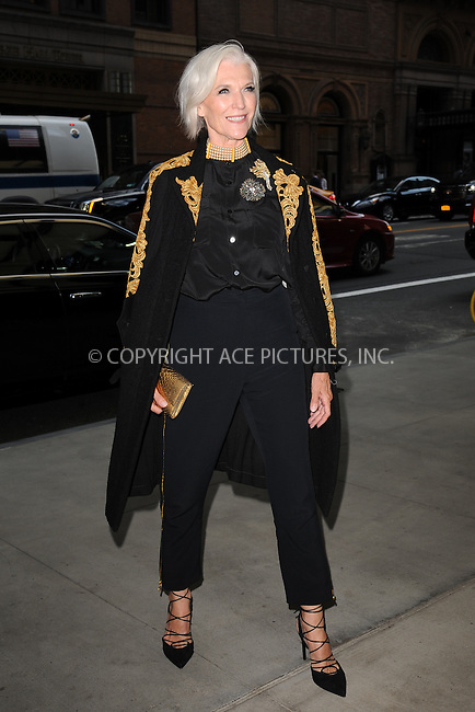 www.acepixs.com<br /> September 8, 2016  New York City<br /> <br /> Maye Musk attending the The Daily Front Row's 4th Annual Fashion Media Awards at Park Hyatt New York on September 8, 2016 in New York City. <br /> <br /> <br /> Credit: Kristin Callahan/ACE Pictures<br /> <br /> <br /> Tel: 646 769 0430<br /> Email: info@acepixs.com