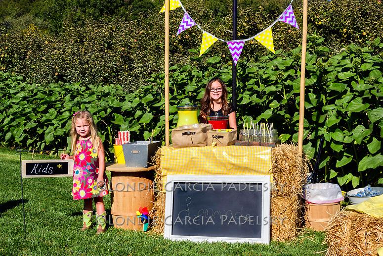 Lemonade booth at the wedding at Avila Valley Barn
