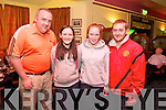 Aidan O'Sullivan, Amy O'Connor, Lisa O'Connor, John O'Connell enjoying the Tralee Pitch and Putt Table Quiz in Na Gaeil Clubhouse on Friday