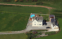 Aerial view of the house belonging to Charlotte Church and Gavin Henson in St Brides Major south Wales