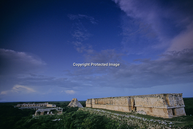 Uxmal; Maya; Tourist; Mexico; Pyramid
