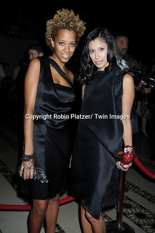 fashion designers Carly Cushnie and Michelle Ochs arriving at The New Yorkers for Children 2010 Fall Gala on September 21, 2010 at Cipriani's 42nd Street.