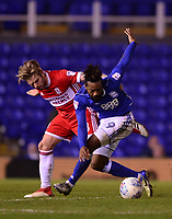 Jacques Maghoma of Birmingham battles for the ball with Adam Clayton of Middlesbrough during the Sky Bet Championship match between Birmingham City and Middlesbrough at St Andrews, Birmingham, England on 6 March 2018. Photo by Bradley Collyer / PRiME Media Images.