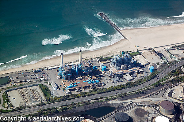 aerial photograph El Segundo power plant, Los Angeles, California