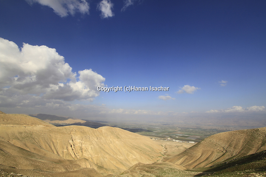 A view of the Jordan Valley from the Horn of Sartaba