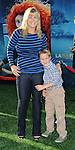 """Alison Sweeney and her son at the World Premiere of Disney Pixar's """" Brave """" at the grand opening of the Dolby Theatre Los Angeles, CA. June 18, 2012"""