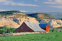 Ranch, barn and Boulder Mountain<br />