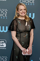 Elisabeth Moss attends the 23rd Annual Critics' Choice Awards at Barker Hangar in Santa Monica, Los Angeles, USA, on 11 January 2018. Photo: Hubert Boesl - NO WIRE SERVICE - Photo: Hubert Boesl/dpa /MediaPunch ***FOR USA ONLY***