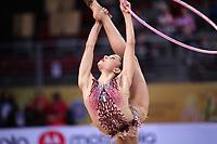 September 14, 2018 - Sofia, Bulgaria - MELINA BALDASSARRI of Italy performs hoop at 2018 World Championships.