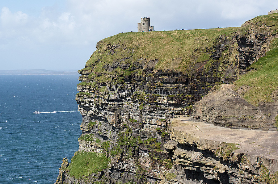 O'Brien Tower stands on the edge of the Cliffs of Moher.