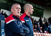 Bolton Wanderers' U18's manager Nicky Spooner (left) with assistant manager  Gavin McCann <br /> <br /> Photographer Andrew Kearns/CameraSport<br /> <br /> The Carabao Cup First Round - Rochdale v Bolton Wanderers - Tuesday 13th August 2019 - Spotland Stadium - Rochdale<br />  <br /> World Copyright © 2019 CameraSport. All rights reserved. 43 Linden Ave. Countesthorpe. Leicester. England. LE8 5PG - Tel: +44 (0) 116 277 4147 - admin@camerasport.com - www.camerasport.com
