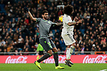 Real Madrid's Marcelo Vieira and Real Sociedad's Willian Jose Da Silva during La Liga match between Real Madrid and Real Sociedad at Santiago Bernabeu Stadium in Madrid, Spain. January 06, 2019. (ALTERPHOTOS/A. Perez Meca)<br />  (ALTERPHOTOS/A. Perez Meca)