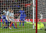 England's Jack Stephens scoring his sides third goal during the Under 21 International Friendly match at the St Mary's Stadium, Southampton. Picture date November 10th, 2016 Pic David Klein/Sportimage